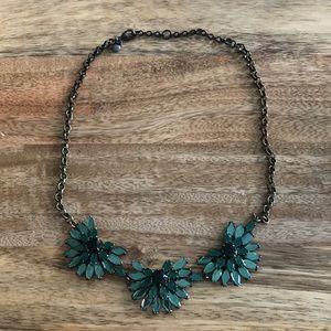 J Crew emerald green gem stone necklace